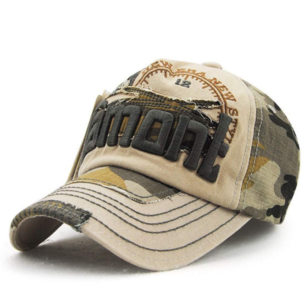 iHENGH Baseball Caps Unisex Estickte Blume Denim Cap Fashion Mütze Cowboyhüte
