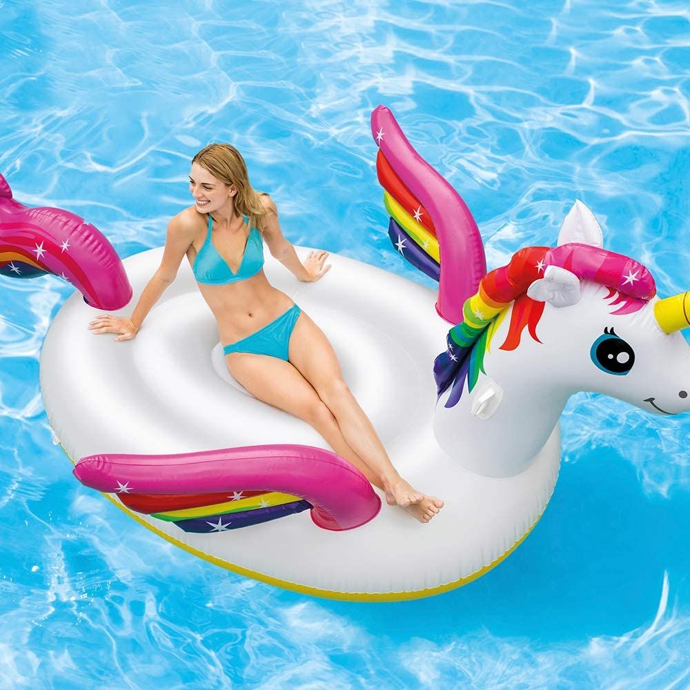 Intex 57281EU - Unicornio hinchable XL - 287x193x165 cm: Amazon.es ...