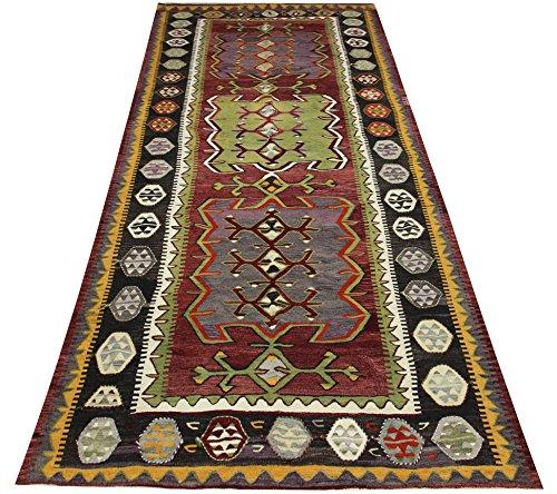 Turkish Vintage Kilim runner rug 12,3x5,1 feet Area rug Oriental kilim rug Floor Rug Turkish Rugs Handmade Kilim Rug