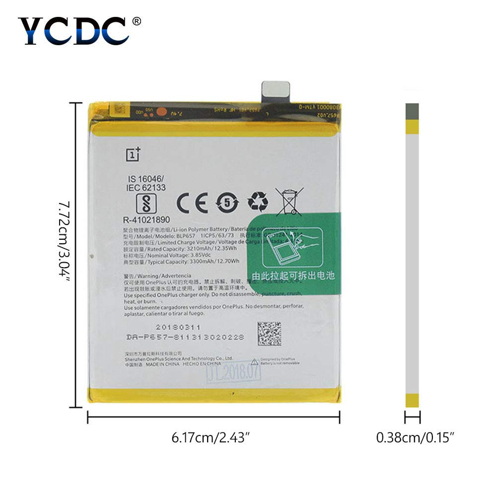 Amazon.com: YCDC Original BLP657 Battery for OnePlus Six 1+ ...