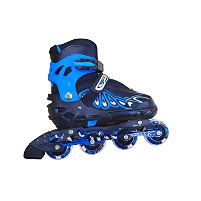 Hicient Adjustable Inline Skates Adults Kids Rollerblades with Breathable Mesh (Blue) : Sports & Outdoors