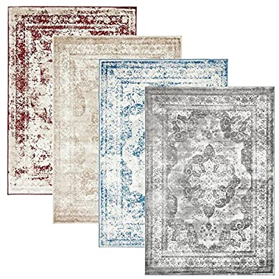 Traditional Persian Design Rugs Sofia Gray Light Brown Ivory Area Rug