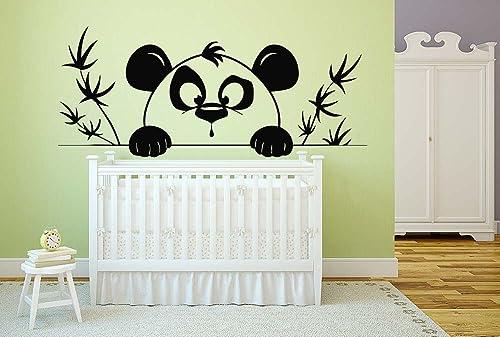 Bamboo,Wall decor,Wall Decal,Car sticker,Window Sticker,Vinyl sticker Handmade 1128 Animals Bear Panda