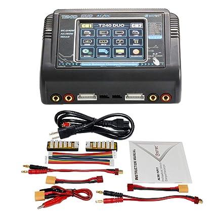 Lipo Balance Chargeur de batterie pour LiPo LiHV LiFe NiCd NiMh NiMh NiMh Pb Smart C240 DUO AC 150W DC 240W 10A