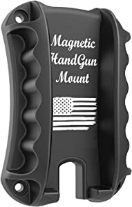 TFNUO Gun Magnet Mount & Holster for Vehicle and Home - Magnetic Handgun Mount, Quick Load & Draw for Self Defense, Concealed Holder Gun Accessories for Handgun, Pistol, Truck, Car, Wall, Safe