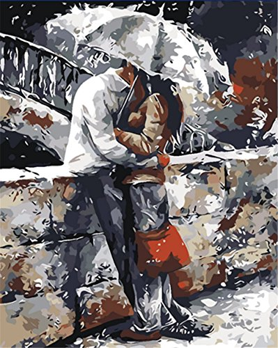 New arrival DIY Oil Painting by Numbers Kit Theme PBN Kit for Adults Girls Kids White Christmas Decor Decorations Gifts - Great compilation (With Frame, (Renaissance Costumes Drawing)