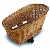 Basil Pasja Animal Rear Mount Basket for Bicycles, Natural Wicker