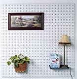 Triton Products HDW-36 White Hdf Pegboard/36 Hooks