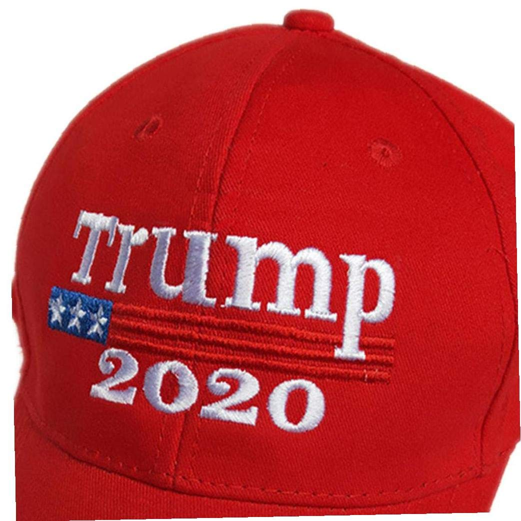 Beito 2020 Donald Trump Red Hat Wiederwahl Halten Sie Amerika Gro/ße Stickerei USA Flag MAGA New Cap Cotton Baseball-Kappe
