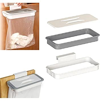 over the cabinet door garbage holder wastebaskets trash rack rh amazon co uk Kitchen Trash Bag Holder Slide Out Trash Bag Holder