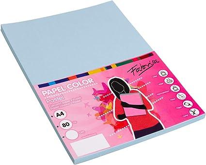 Pack 100 Hojas Color Azul Tamaño A4 80g: Amazon.es: Oficina y papelería