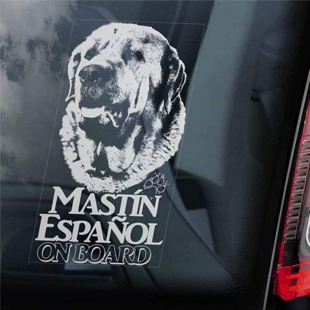 Mastin Español a bordo calcomanía de vinilo de autos, Mastin Espanol español Mastín Mastín Mastín Mastín - Calcomanías para camiones, furgonetas, motocicletas, ventanas, ordenadores portátiles, tazas,