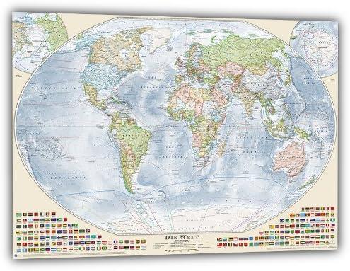 Mapamundi político actual, Alemán: Amazon.es: Hogar