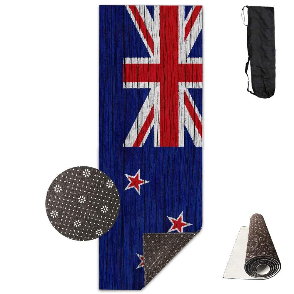 Flag of New Zealand Wooden Texture ECO Aqua Power Kinematic Iyengar Kundini Hot Pilates Gymnastics Hatha Yoga Mat Exercise Mat