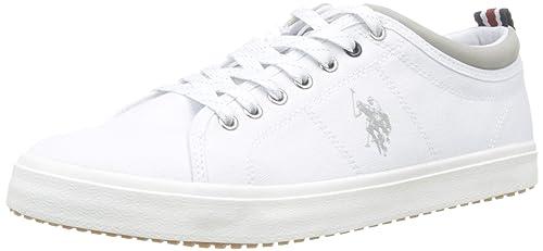 U.S. Polo Assn. Wuck, Zapatillas de Gimnasia para Hombre, Blanco ...