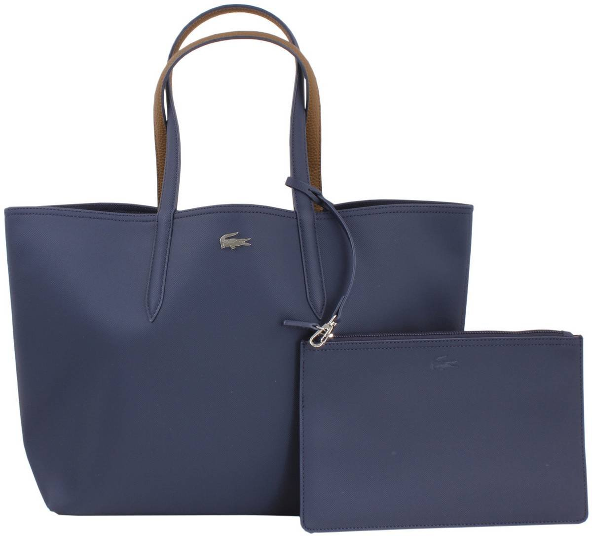 Peacoat Navy/Brown Reversible Shopping Bag by Lacoste