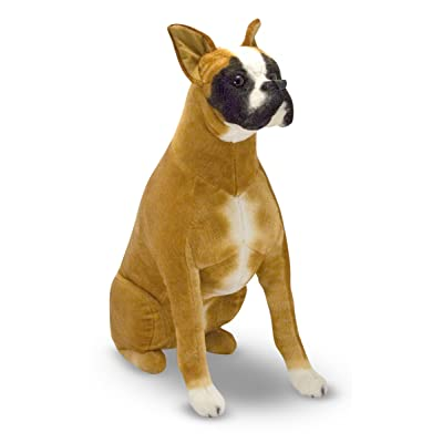 Melissa & Doug Giant Boxer - Lifelike Stuffed Animal Dog: Melissa & Doug, , 4853: Toys & Games