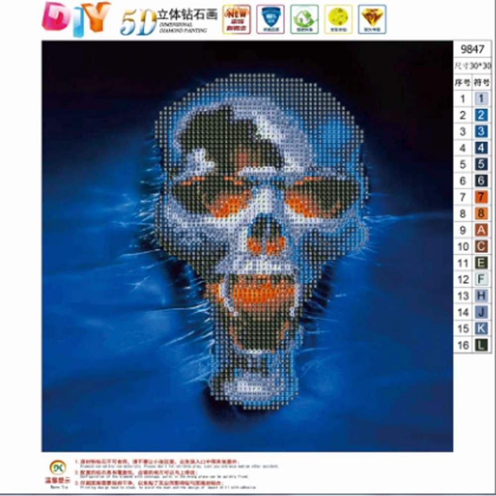 QUICKLYLY 5D DIY Pintura de Diamantes Bordado completo del diamante del taladro de los kits de la pintura del diamante 5D Hermoso paisaje,30 * 55cm,40 ...