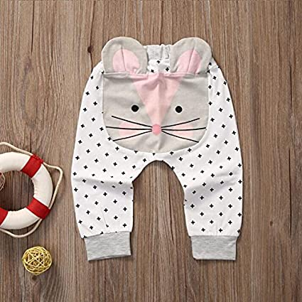 Zooarts Baby Kids Boys Girls 3D Harem Pants Cat Molding Baby Lovely Trousers 0-2Y (70 (4-6 Months))