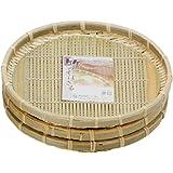 小柳産業 竹 そばザル 3個セット φ22cm 38079