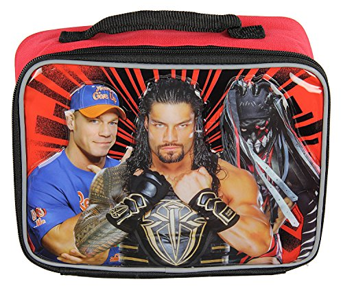 WWE Lunch Box Soft Kit Insulated Cooler Bag John Cena Roman Reigns Finn Balor by Accessory Innovations