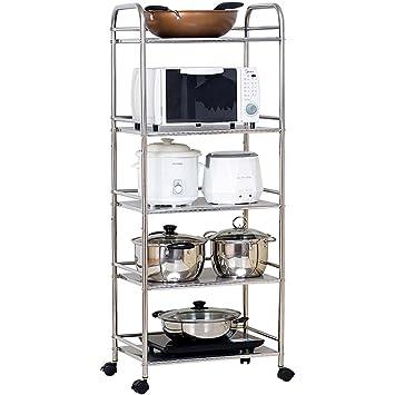 Chen Estantería de cocina Aterrizaje Rack de horno de microondas Rack de almacenamiento Rack de pote
