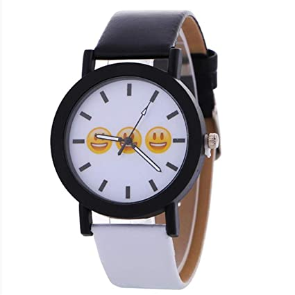 Amazon.com : Casual Women Watch Expression Black and White ...