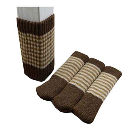24 LED de muebles de lana para tejer calcetines/pata de la silla piso Protector