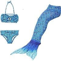Qincos 3PCS Bikini Sirena Traje de baño Disfraz