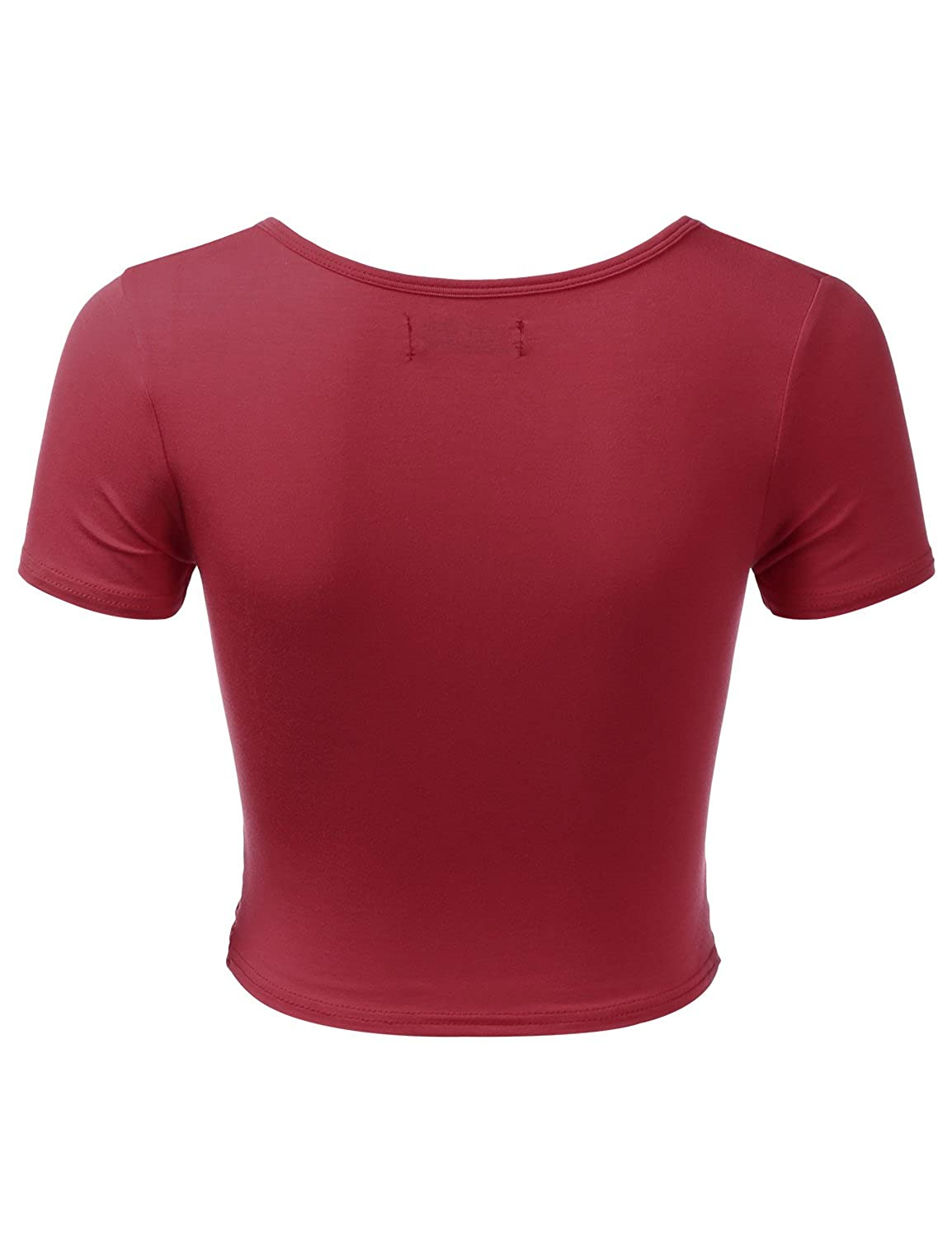 99f56c527c9 TWINTH Women's Basic Wrap Crop Tops Deep V Neck Slim Casual T Shirt Plus  Size at Amazon Women's Clothing store: