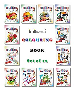 Amazon.in: Buy Colouring Books Set of 12 from Inikao Book Online at ...