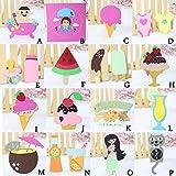 Cut Dies Stencil Metals , Ice Cream Baby Nipple Coconut Watermelon Strawberry Fruits Juice Alarm Clock DIY Scrapbooking Embossing Album Paper Card Craft emplate Mould Cutting Dies (16 PACK)