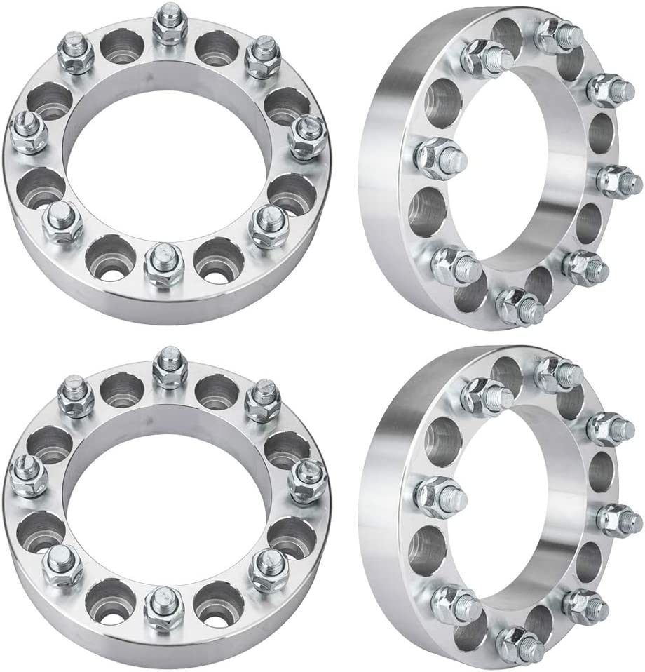 32 Lug Nuts TRIBLE SIX 4pcs 8x6.5 to 8x170 Wheel Spacers 1.5inch Thick 9//16-18 Stud 8 Lugs Adapters for Chevrolet C20 Suburban Ford F-250 F-350 Dodge Ram 2500 Key
