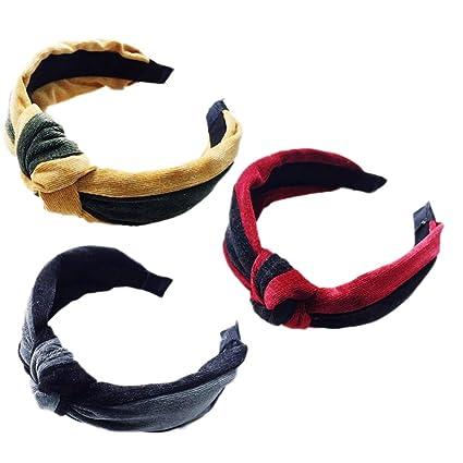 Frcolor 3Pcs Knot Turban Headbands Cross Hairband Yoga Head ...
