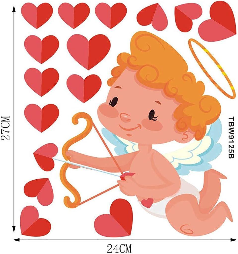 Gleamfut Romantic Valentines Day Creative Window Glass Stickers Love Decal Home Decor