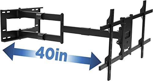 FORGING MOUNT Long Arm TV Mount Full Motion TV Bracket with 42 inch Long Extension Articulating TV Wall Mount for 37 to 80 Inch Flat Curve TVs, VESA 600x400mm Compatible, Holds up to 100 lbs