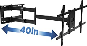 Mount-It! Long Arm TV Mount, Full Motion Wall Bracket with 40 inch Extension Articulating Arm, Fits Screen Sizes 42, 47, 50, 55, 60, 65, 70, 75, 80 Inch, VESA 800x400mm Compatible, Holds up to 110 lbs