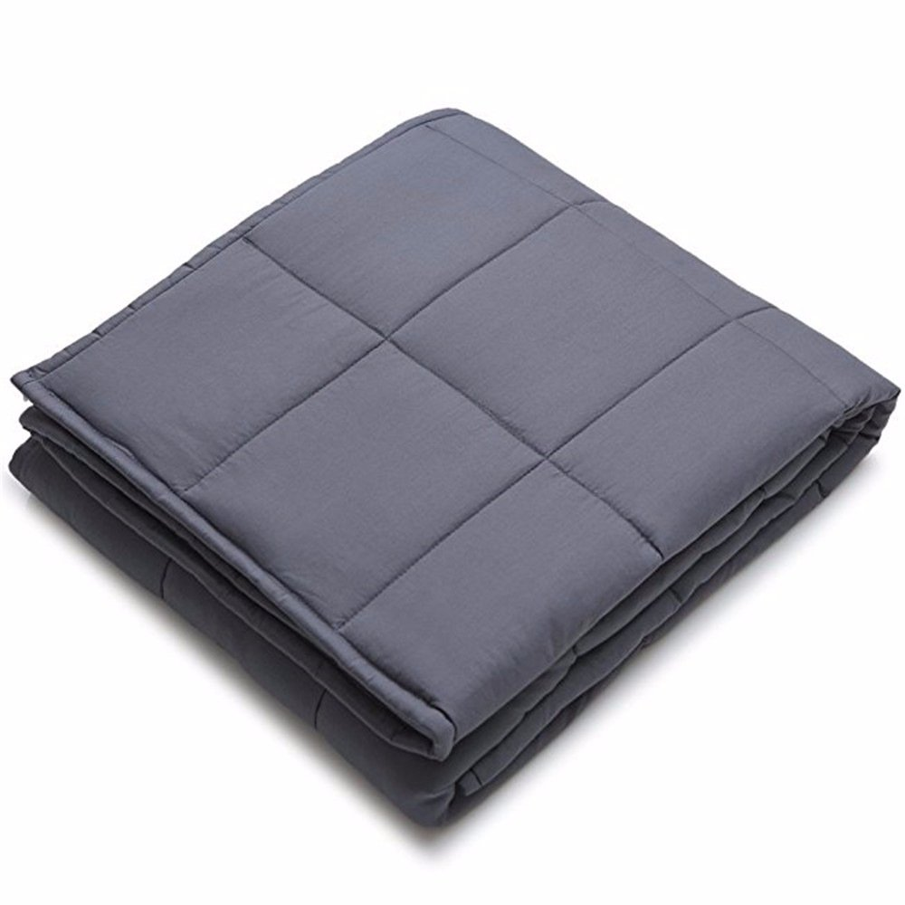 Weighted Blanket by MEILIANJIA Improve Sleep Deep Sleep Naturally Reduce Stress and Increase Relaxation for Sensory Processing Disorder ADHD/Autism/OCD (48''x72'', 15 lbs),Weighted Inner Layer-Dark Grey