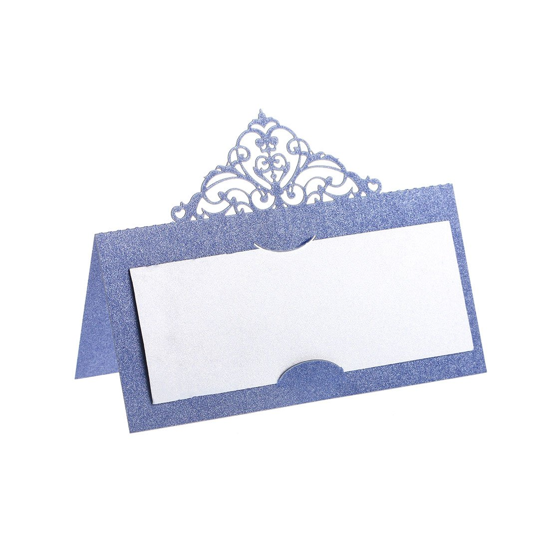 YUFENG Laser Cut Place Cards Table Name Cards For Wedding Birthday Party (60pcs blue) by YUFENG