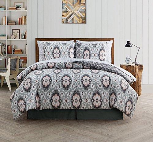 Set Comforter Manor Queen - Avondale Manor Nicola 8-Piece Comforter Set, Queen, Grey