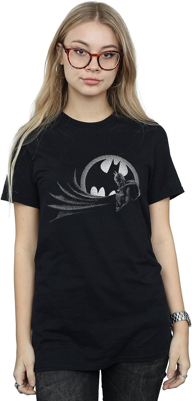 DC Comics Mujer Batman Spot Camiseta del Novio Fit