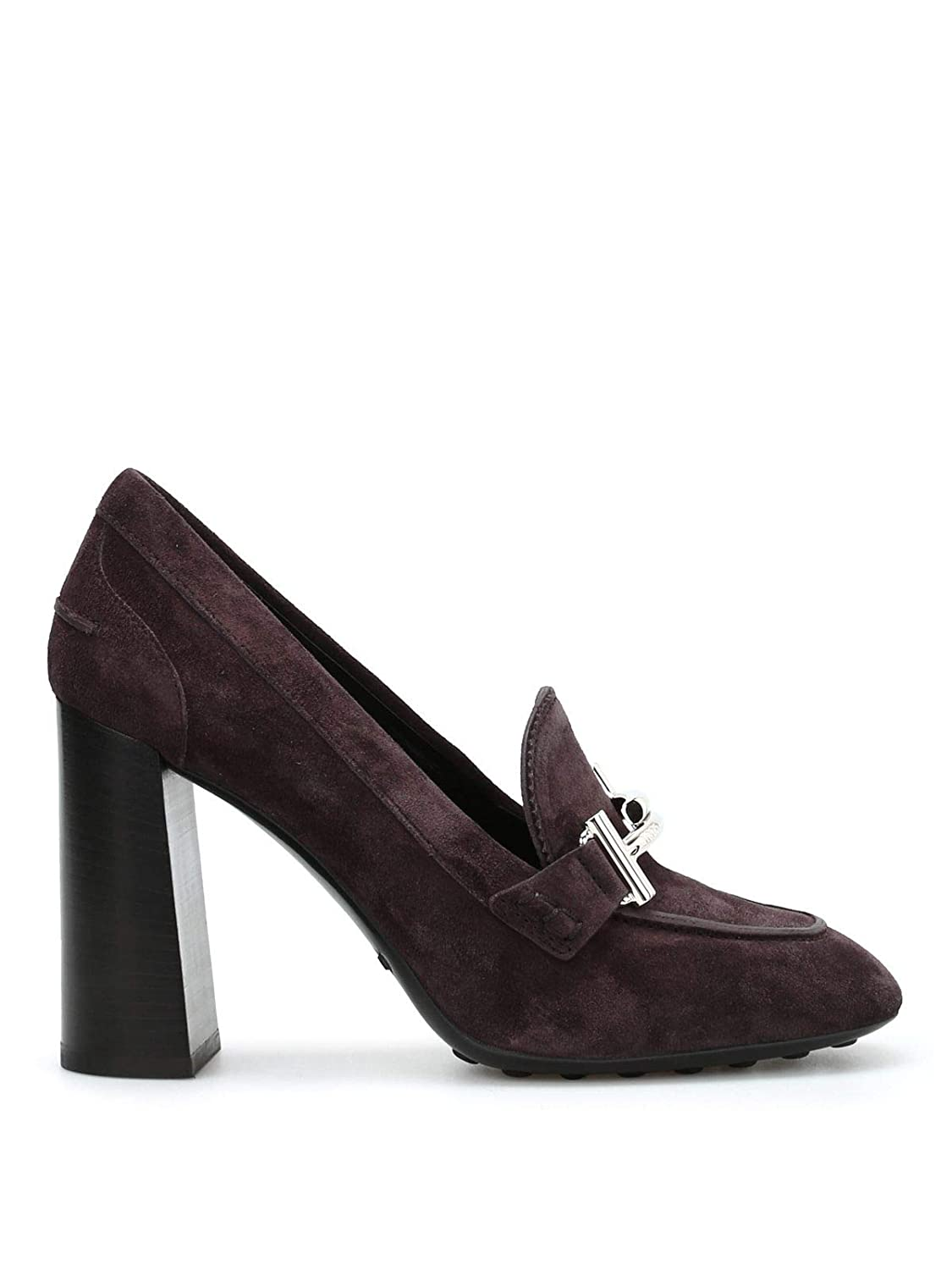 - Tod's Women's XXW0ZL0Q950LCAS820 Brown Suede Pumps