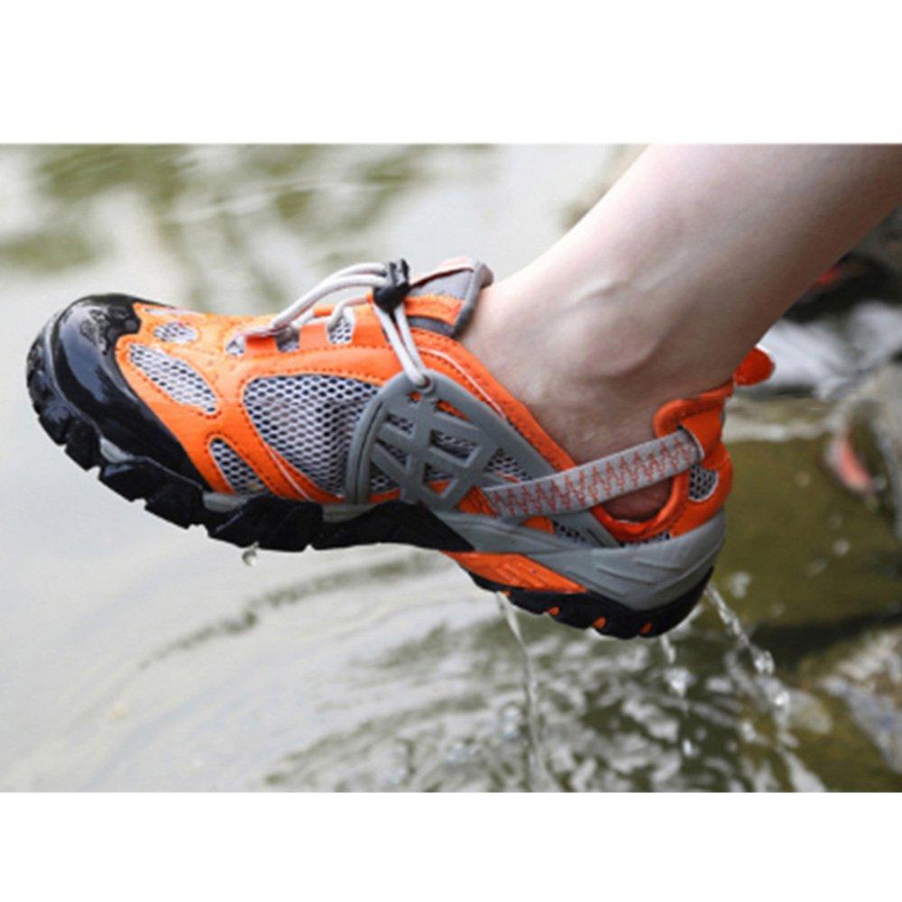 AHELMET Neutral wasserdichte Schuhe Wandern Outdoor Klettern Sandalen Sandalen Sandalen Sport Laufen Waten Schuhe Schuhe (Farbe   Orange, größe   41EU) 5e0b3f