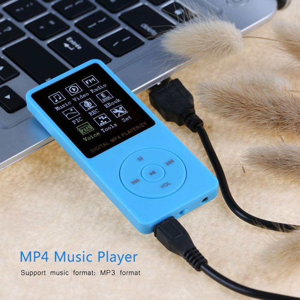 Blue Hakeeta MP3 Player,USB2.0 Portable Color TFT Screen HiFi Music Player MP3 Sports MP4 Music Player