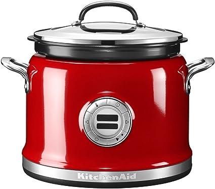 KitchenAid 5KMC4241 olla multi-cocción 4,25 L 700 W Rojo - Ollas multi-cocción (4,25 L, 700 W, Rojo, Acero inoxidable, LCD, 220-240 V): Amazon.es: Hogar