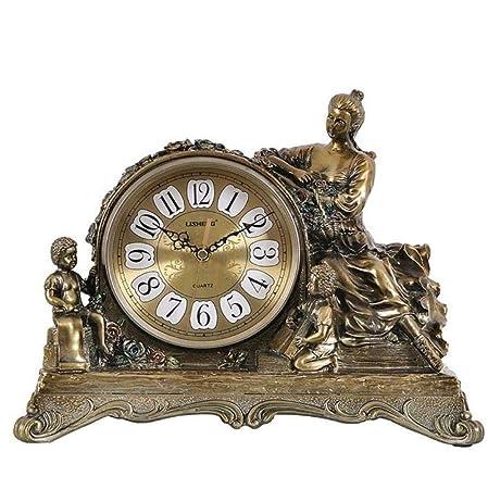 Ywzhushengmaoyi Reloj Mesa de Resina Europea Reloj Retro Salón ...