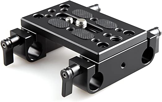 Amazon Com Smallrig Camera Mounting Plate Tripod Mounting Plate With 15mm Rod Clamp Railblock For Rod Support Dslr Rig Cage 1775