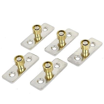 SOURCING MAP 12 mm diámetro guía para puertas correderas de madera o Metal localizador tapón 5