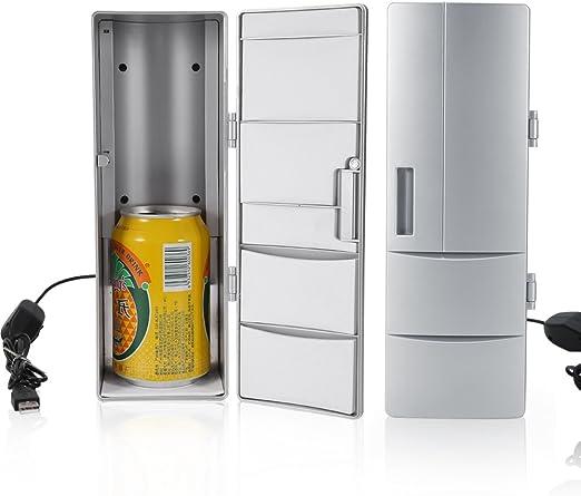 Mini refrigerador, Compacto Mini USB Frigorífico Congelador Latas ...