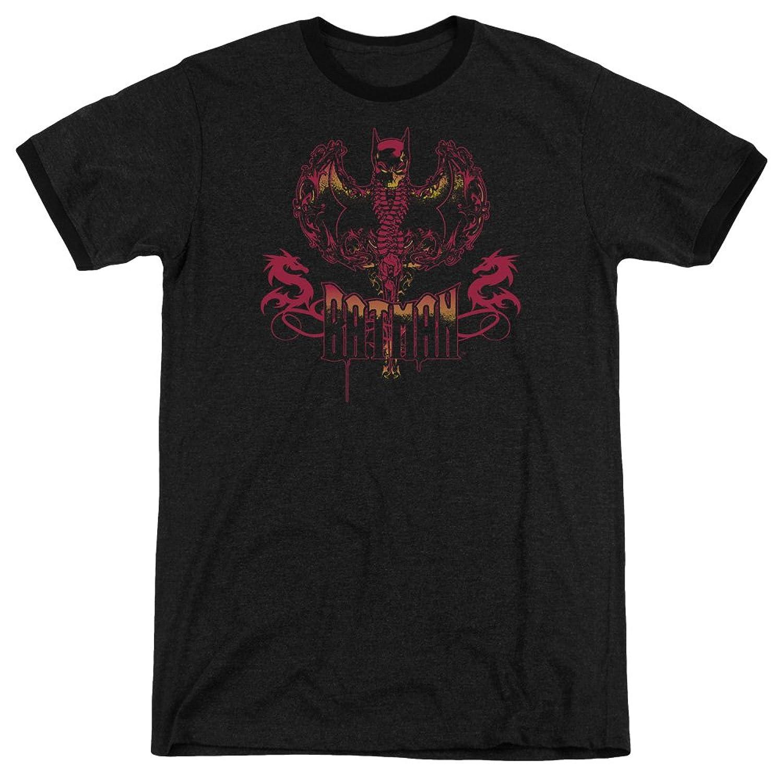 Batman Men's Heart Of Fire Ringer T-Shirt